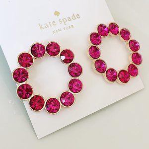 Kate Spade pink crystal earring